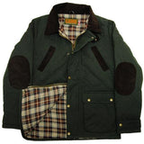 Game Oxford Quilted Wax Jacket Olive Flat
