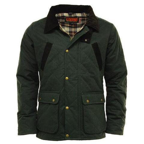 Game Oxford Quilted Wax Jacket Olive