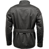 Game Mens Speedway Quiltex Wax Biker Jacket Black Back