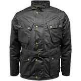 Game Mens Speedway Quiltex Wax Biker Jacket Black Closed