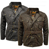 Game Mens Speedway Quiltex Wax Biker Jacket Gallery