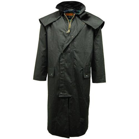 Game Mens Stockman Long Cape Jacket Black
