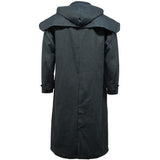 Game Mens Stockman Long Cape Jacket Navy Back