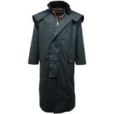 Game Mens Stockman Long Cape Jacket Navy