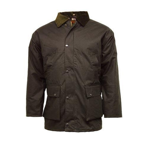 Game Mens Unpadded Wax Jacket Brown