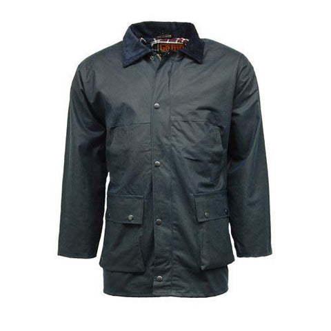 Game Mens Unpadded Wax Jacket Navy