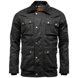 Game Mens Utilitas Wax Jacket  Closed