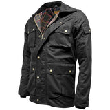 Game Mens Utilitas Wax Jacket Side