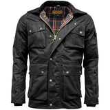 Game Mens Utilitas Wax Jacket Brown