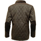 Game Ladies Zara Quilted Wax Jacket Brown Back