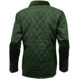Game Ladies Zara Quilted Wax Jacket Olive Back