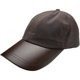 Leather Peak Wax Cap Brown