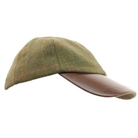Tweed Leather Peek Cap Bute