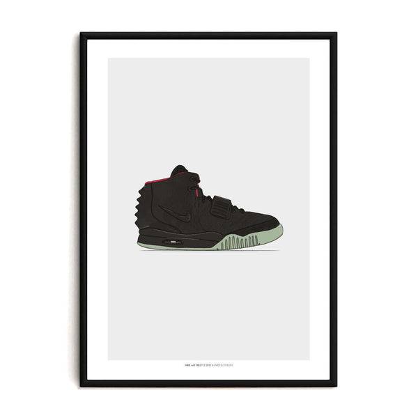 Air Yeezy 2 Sneaker Print - Stacks: The Hip Hop Card Game