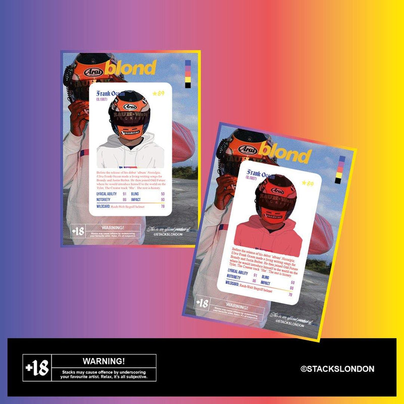 Super Rare Frank Ocean Blond Card - Stacks: The Hip Hop Card Game