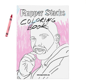 Rapper Stacks A5 colouring book - Stacks: The Hip Hop Card Game