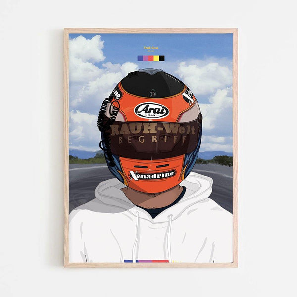 Frank Ocean (Blonde Alt) Art Print - Stacks: The Hip Hop Card Game