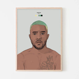 Frank Ocean (Blonde) Art Print - Stacks: The Hip Hop Card Game