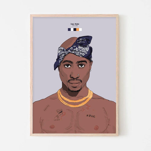 Tupac Shakur (2Pac) Art Print - Stacks: The Hip Hop Card Game