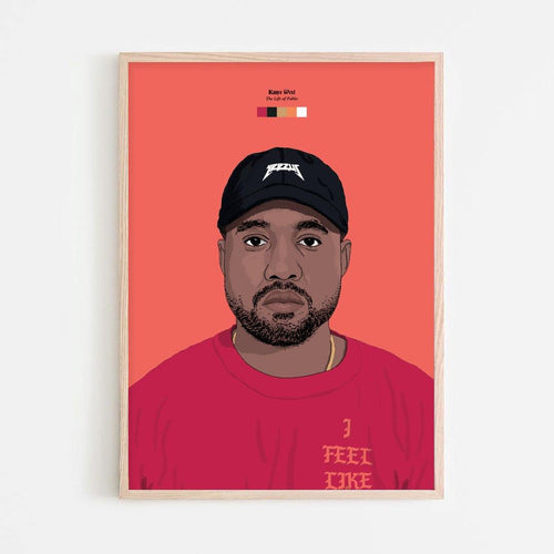 Kanye West (The Life of Pablo) Print - Stacks: The Hip Hop Card Game