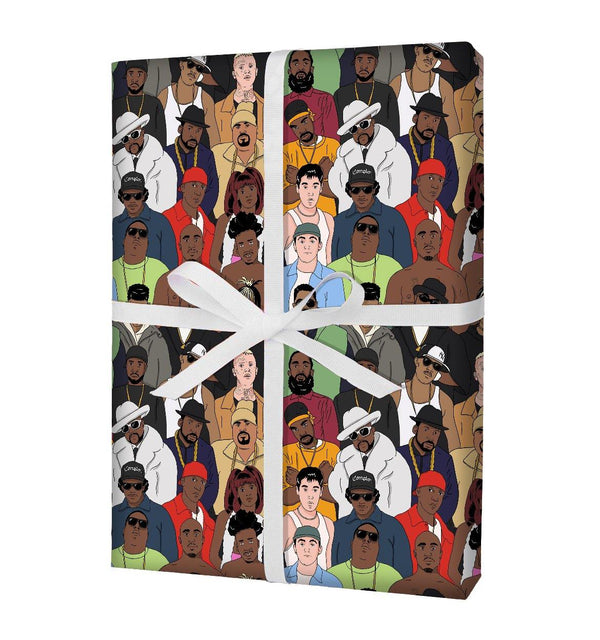 """All My Favourite Rappers Are Dead"" Gift Wrap (x3 Sheets) - Stacks: The Hip Hop Card Game"