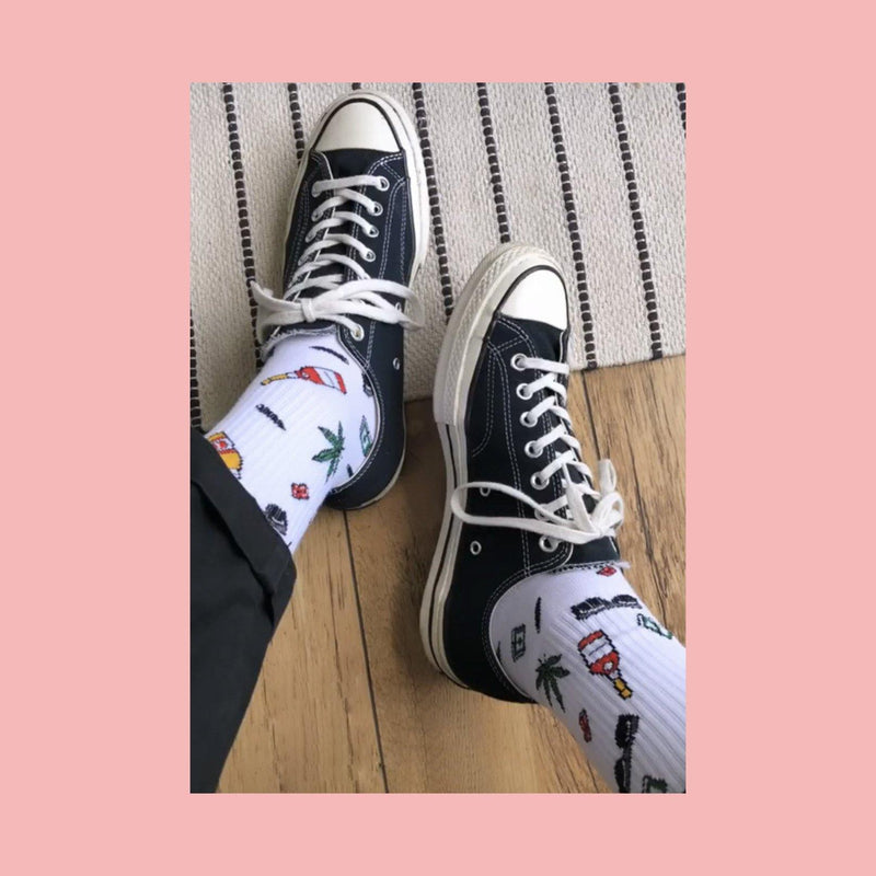 "Rapper Stacks: ""Pink Print"" Socks - Stacks: The Hip Hop Card Game"