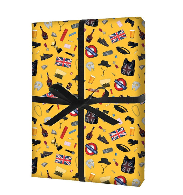 "Grime Stacks ""Gift Rap"": Yellow Print  (x 3 Sheets) - Stacks: The Hip Hop Card Game"