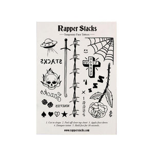 Rapper Stacks: Temporary Face Tattoos - Stacks: The Hip Hop Card Game