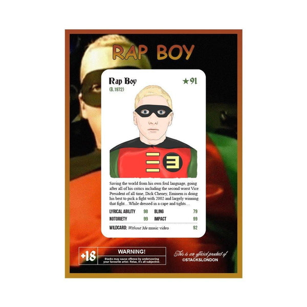 "Eminem Card - ""Rap Boy"" Limited Edition Card - Stacks: The Hip Hop Card Game"