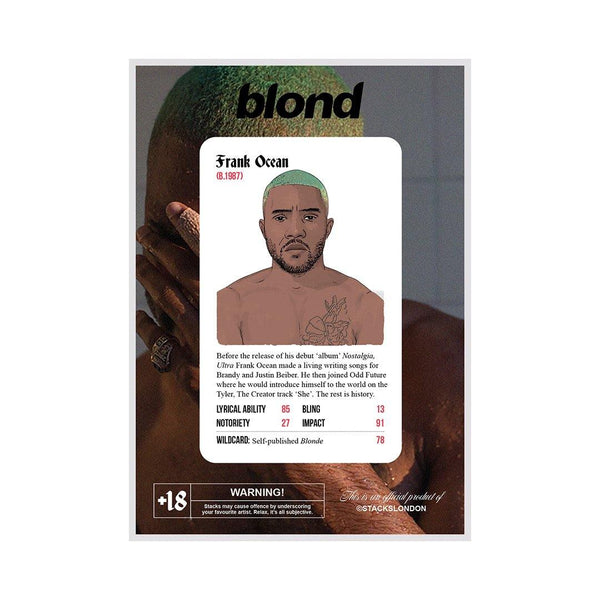 Frank Ocean Blond Card - Stacks: The Hip Hop Card Game