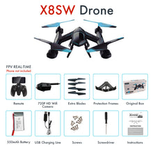 Load image into Gallery viewer, Kedior X8SW Quadcopter Remote Control Drone