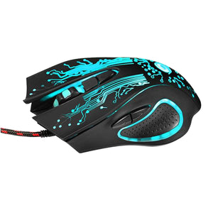 ALLOYSEED Professional 6D Color Changing Optical Gaming Mouse