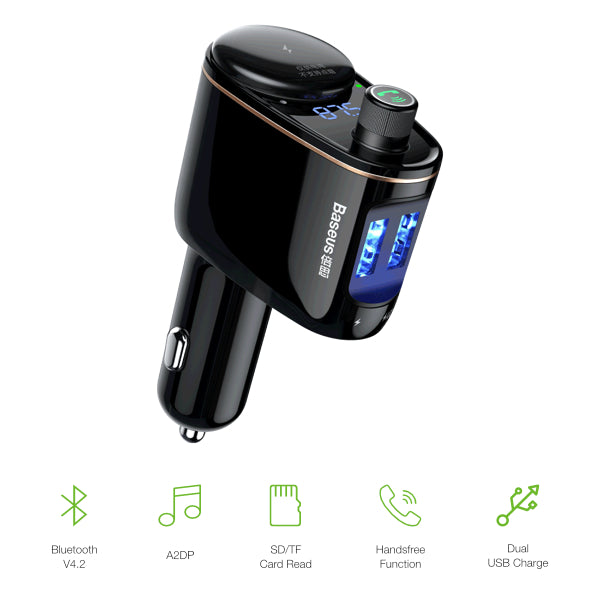 Baseus MP3 Audio Player Handsfree Car Phone Charger