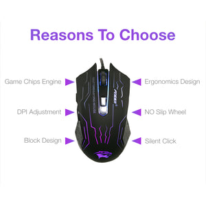 FORKA 6 Buttons Mute Optical Gaming Mouse