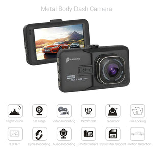 PRAMIRO Full HD Coverage Dash Camera with Car Detector