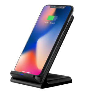 DCAE Leather Qi Wireless Charger For iPhone X