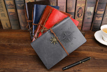 Load image into Gallery viewer, Vintage Pirate Anchors PU Leather Note Book Journal with Replaceable Stationery Gift Traveler Journal