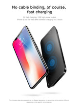Load image into Gallery viewer, Baseus 10W Quick Wireless Charger For iPhone X 8 Samsung S8 S9 S9+ with Desktop Charging Stand