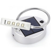 Load image into Gallery viewer, Flexible Gooseneck Style 4-LED Mini Solar Table Lamp PC USB Charger