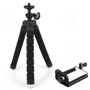 JCKEL Mini Flexible Sponge Octopus Tripod for Camera and Smartphones with accessory