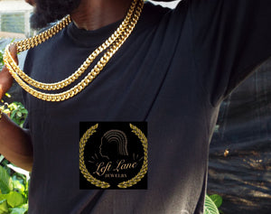 Double down #2 without the bracelet 18k gold plated Miami Cuban link chain