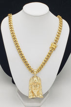14k gold plated 8mm Miami Cuban link with pendant