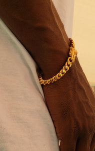 8mm 14k or 18k gold plated  Miami Cuban link bracelet