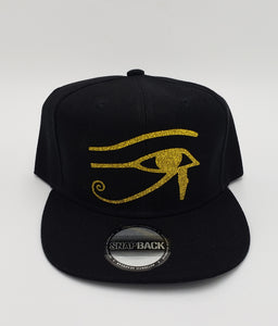 Eye of Horus glitter snapback hat