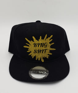 King shit glitter splatter snapback hat