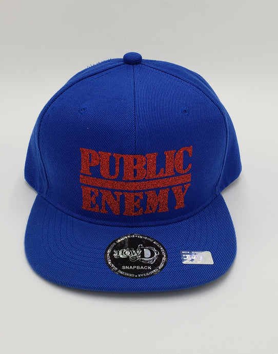 Public Enemy glitter snapback hat