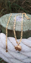 14k gold plated 3mm Chief Figaro chain and bracelet set 24inches