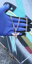 14k gold filled 5mm Diamond cut Angel Cuban link chain and bracelet set 24inches