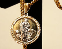 14k Gold Filled double side pendant