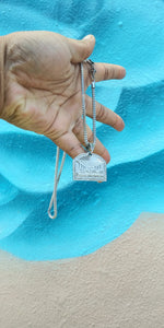 New Arrival 3mm 14k White Gold plated Franco Chain And Pendent Set